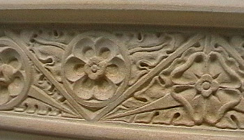 Hand Carved stone detailling