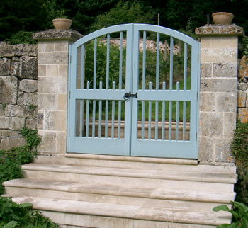 Garden gates bespoke commission for the Pythouse